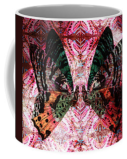 Coffee Mug featuring the digital art Butterfly Kaleidoscope by Kyle Hanson