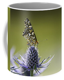 Butterfly On Thistle Coffee Mug by Peter v Quenter