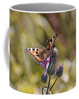 Butterfly On Tistle Sep Coffee Mug