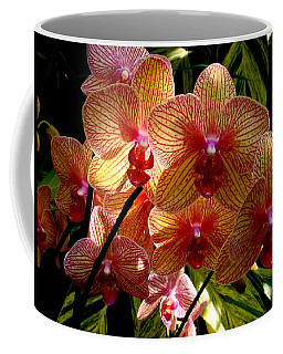 Coffee Mug featuring the photograph Butterfly Orchids by Rodney Lee Williams