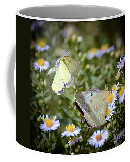 Coffee Mug featuring the photograph Butterfly Moments  by Kerri Farley