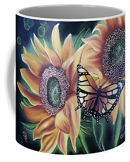 Coffee Mug featuring the painting Butterfly Series 5 by Dianna Lewis