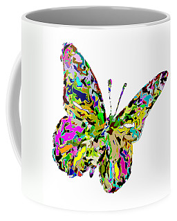 Butterfly Color Flutter Coffee Mug