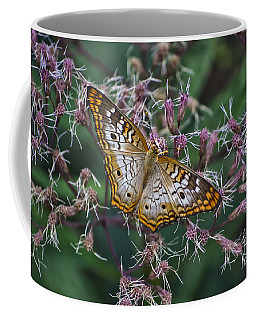 Coffee Mug featuring the photograph Butterfly Soft Landing by Thomas Woolworth