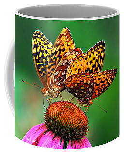 Coffee Mug featuring the photograph Butterfly Twins by Christina Rollo