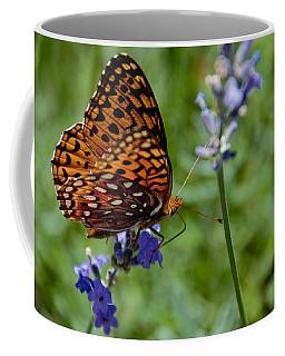 Butterfly Visit Coffee Mug