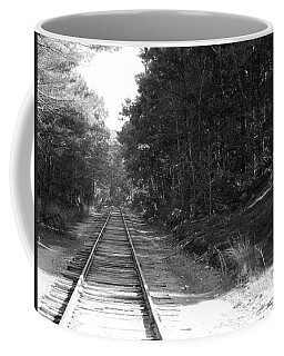 Bw Railroad Track To Somewhere Coffee Mug