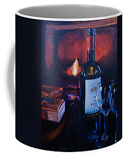 By The Fire Coffee Mug by Donna Tuten