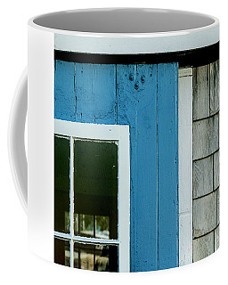 Old Door In Blue Coffee Mug