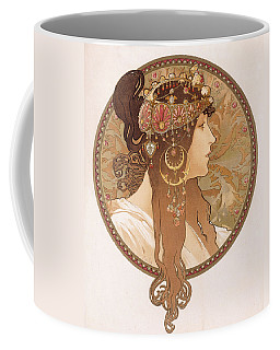 Byzantine Head Of A Brunette Coffee Mug