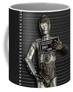 C-3po Mug Shot Coffee Mug by Tony Rubino