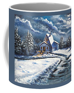 Cabin At Night Coffee Mug