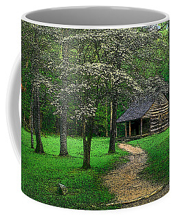 Coffee Mug featuring the photograph Cabin In Cades Cove by Rodney Lee Williams