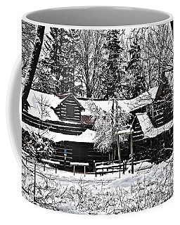 Coffee Mug featuring the photograph Cabin In The Woods by Deborah Klubertanz