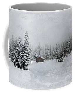 Cabin In The Woods-textured Coffee Mug