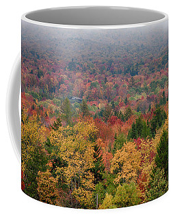 Coffee Mug featuring the photograph Cabin In Vermont Fall Colors by Jeff Folger