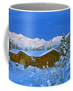 Cabin Mount Alyeska, Alaska, Usa Coffee Mug