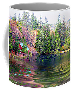 Cabin On The Lake Coffee Mug