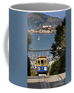 Coffee Mug featuring the photograph San Francisco Cable Car On Hyde Street Print By Brian Jannsen Photography by Brian Jannsen
