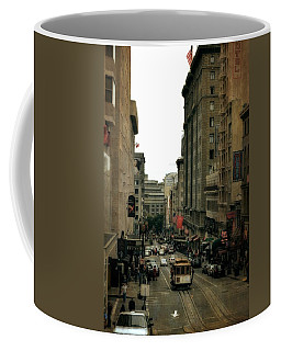 Cable Car In The City Coffee Mug