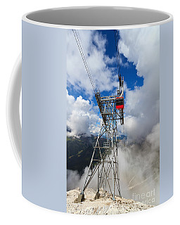 cableway in Italian Dolomites Coffee Mug by Antonio Scarpi