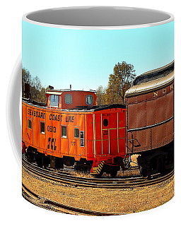 Caboose And Car Coffee Mug