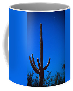 Cactus And Moon Coffee Mug