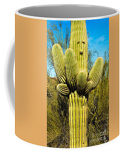 Coffee Mug featuring the photograph Cactus Face by Mae Wertz
