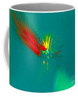 Coffee Mug featuring the digital art Cactus Flower by Victoria Harrington
