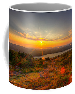 Cadillac Mountain Sunset Acadia National Park Bar Harbor Maine Coffee Mug