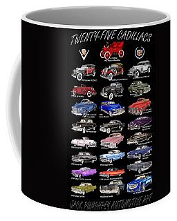 25 Cadillacs In A Poster  Coffee Mug