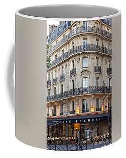 Coffee Mug featuring the photograph Cafe Francais by Brian Jannsen