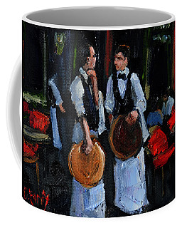 Cafe Philosophers Coffee Mug by Carole Foret