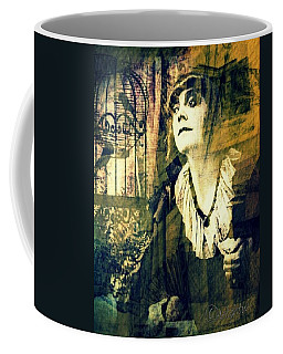 Coffee Mug featuring the digital art Blueprint For The Frightened by Delight Worthyn