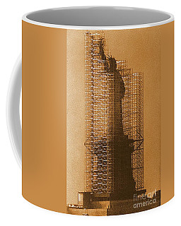 New York Lady Liberty Statue Of Liberty Caged Freedom Coffee Mug by Michael Hoard