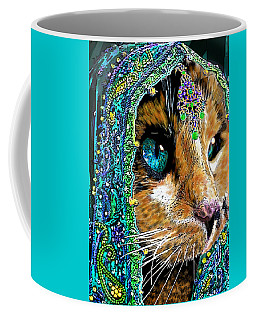 Calico Indian Bride Cats In Hats Coffee Mug by Michele Avanti