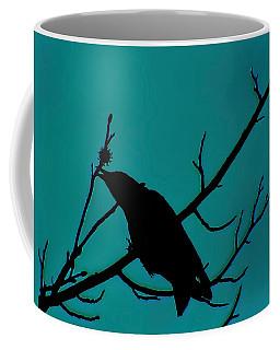 Call Of The Crow On Aqua 2 Coffee Mug