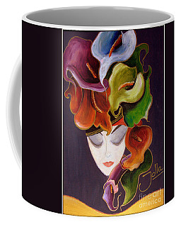Coffee Mug featuring the painting Calla Lily Dame.. by Jolanta Anna Karolska