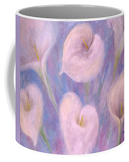 Coffee Mug featuring the painting Callas by Lynn Buettner