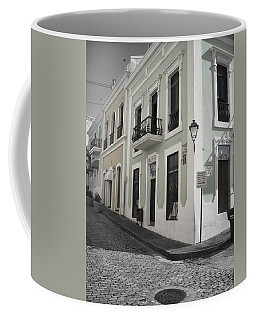 Coffee Mug featuring the photograph Calle De Luna Y Calle Del Cristo by Daniel Sheldon