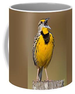 Calling Eastern Meadowlark Coffee Mug by Jerry Fornarotto
