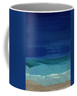 Calm Waters- Abstract Landscape Painting Coffee Mug by Linda Woods
