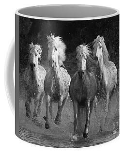 Camargue Horses Running Coffee Mug