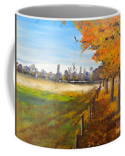 Coffee Mug featuring the painting Camden Farm by Pamela  Meredith