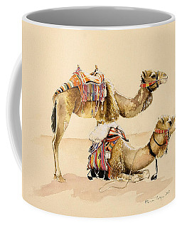 Camels From Petra Coffee Mug