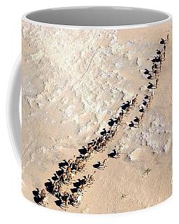 Camels Walking In Desert Coffee Mug