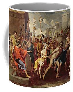 Camillus And The Schoolmaster Of Falerii, C. 1635-40 Oil On Canvas Coffee Mug