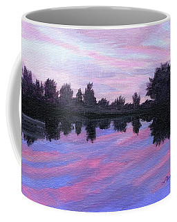 Coffee Mug featuring the painting Camp Sunset by Lynne Reichhart
