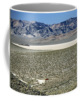 Coffee Mug featuring the photograph Camped At The End Of The Road by Joe Schofield