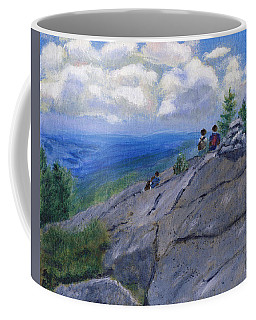 Campers On Mount Percival Coffee Mug
